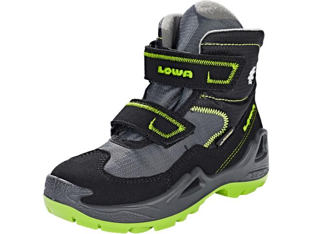 Lowa Milo GTX Mid Shoes Kinder black/lime